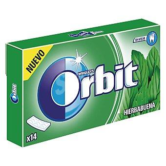 Orbit Chicle láminas sabor hierbabuena Paquete 27 gr