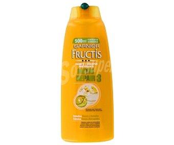 Fructis Garnier Champú Nutri Repair 3, cabellos secos o dañados 500 Mililitros