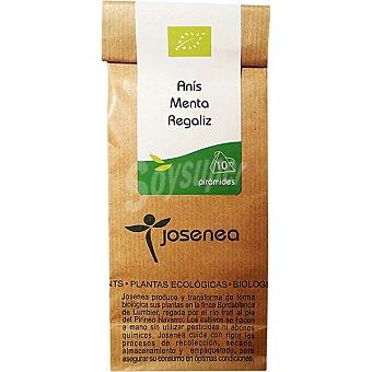 JOSENEA Infusión de anís menta y regaliz Bio 10 sobres envase 20 g Envase 20 g