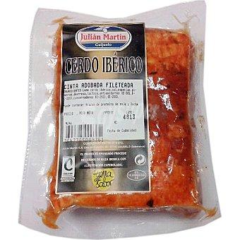 JULIAN MARTIN Cinta de lomo adobada fileteada de cerdo ibérico al vacío envase 500 g peso aproximado Envase 500 g