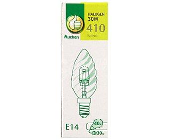 PRODUCTO ECONÓMICO ALCAMPO Bombilla ecohalógena vela rizada 30W, E14, Luz cálida 1 Unidad