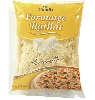 Condis Queso rallado mozzarella 200 GRS