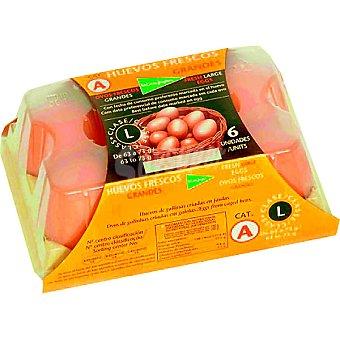 EL CORTE INGLES Huevos clase L estuche 6 unidades