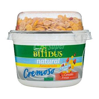 Hacendado Yogur bifidus natural cremoso con cereales 186 g
