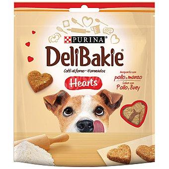 Purina DeliBakie Hearts galletas para perro con pollo y buey bolsa Paquete 100 g