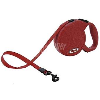 BIOZOO AXIS FLEXI MINI COMPACT Correa extensible color rojo cordón de 3 metros para perros de peso aproximado 12 kg 1 unidad