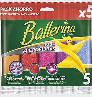 Ballerina Bayeta ballerina microfibra collection 5 unidades