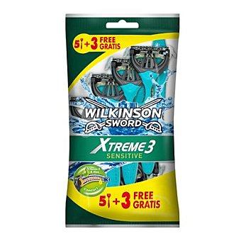Wilkinson Maquinilla afeitar desechable xtreme 3 sensitive 8 unidades