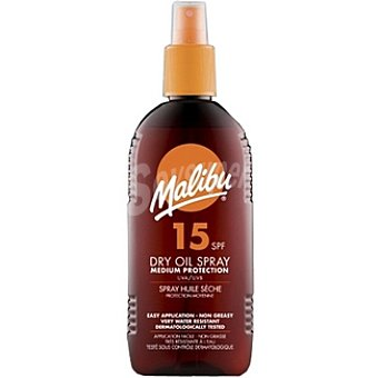Malibu Aceite bronceador FP-15 Spray 200 ml