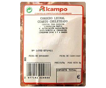 Cuartos chuleteados de cordero lechal 500 Gramos (peso aprox)