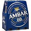 Cerveza 0,0 sin alcohol pack 6 botella 25 cl Pack 6 botella Ambar Green