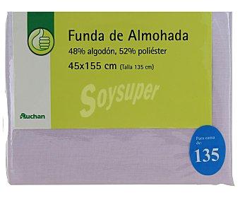 Productos Económicos Alcampo Funda de almohada, color violeta, 135 centímetros 1 Unidad