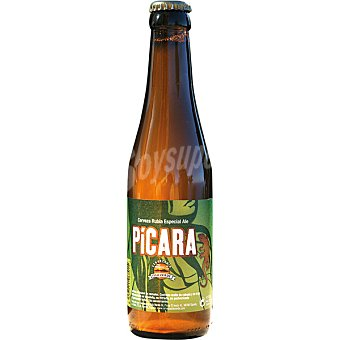 PICARA Cerveza rubia canaria Especial Ale botella 33 cl Botella 33 cl