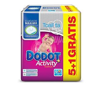 Dodot Recambio Toallitas Activity Sixpack 324 Unidades