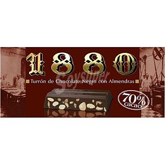 1880 Turrón de chocolate negro con almendras 70% cacao Tableta 250 g