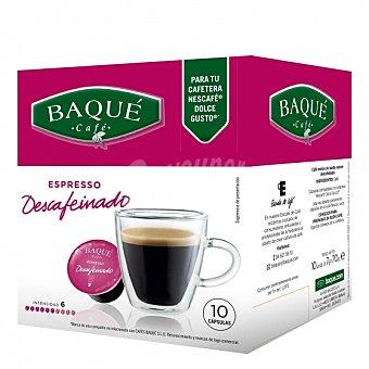 Dolce Gusto Nescafé Café descafeinado en cápsulas Baqué compatible con 10 unidades de 7 g