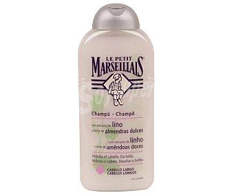 Le Petit Marseillais Champú con extracto de lino y leche de almendras dulces, hidrata y da brillo al cabello 300 Mililitros