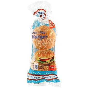 DIA Pan de hamburguesas  4 unidades - 220 gr