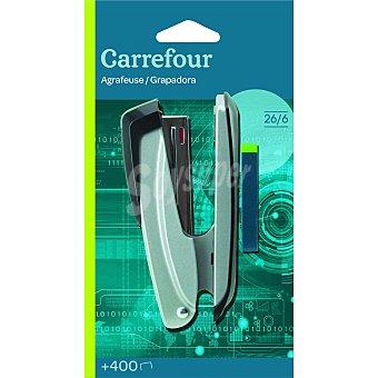Carrefour Grapadora Clásica 26/6 Blister + 400 Grapas