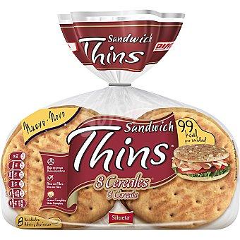Sándwich Thins Bimbo Pan de sándwich thins 8 cereales 310 g