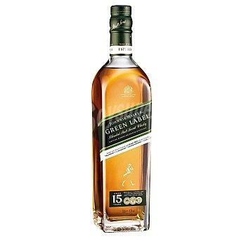 Johnnie Walker Whisky escocés Green Label puro de malta 15 años Botella 70 cl