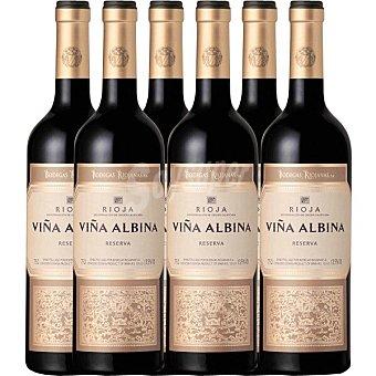 Viña Albina Vino tinto reserva D.O. Rioja caja 6 botellas 75 cl