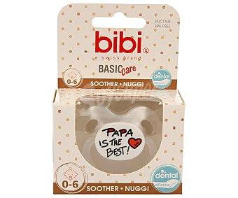 Bibi Chupete anatómico de silicona para bebés de 0 a 6 meses Basic care