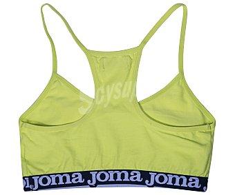 JOMA Top deportivo para niña, color lima, talla 6/8