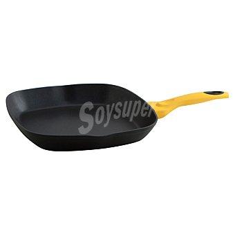 QUID Iron Asador de aluminio forjado con mango en color amarillo 28 cm