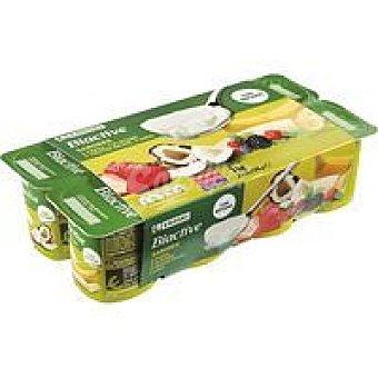Eroski Yogur Biactive sabores Pack 8x125 g