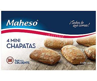 Maheso Mini chapatas de pan precocido y ultracongelado 4 x 70 g