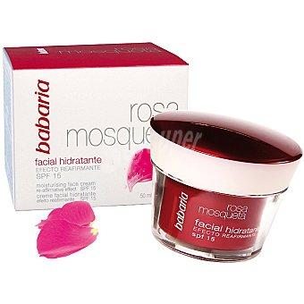 Babaria Rosa mosqueta crema hidratante facial FPS-15 Tarro 50 ml