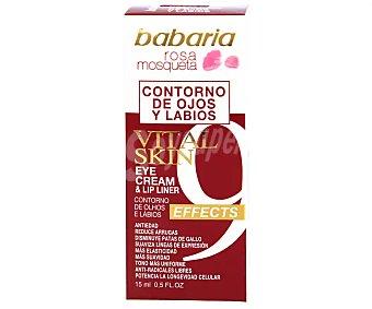 Babaria Contorno de ojos y labios vital skin rosa mosqueta Bote 15 ml