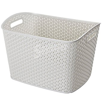 CURVER My Style Cesta de plástico color blanco 25 l 25 l