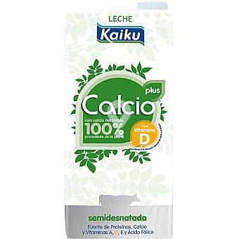 Plus leche semidesnatada con calcio natural 100% procedente de la leche con vitamina D