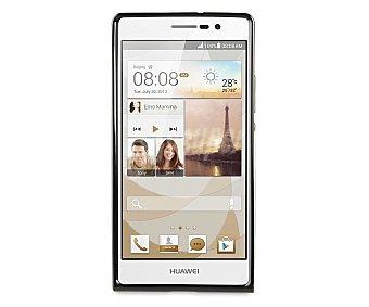 MUVIT Carcasa trasera para Huawei Ascend P7 Minigel, Negra (teléfono no incluido)