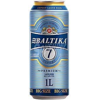 BALTIKA 7 Export Premium Cerveza rubia Lager de Rusia Lata 1 l