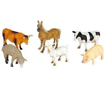 Productos Económicos Alcampo Animales de Granja Fabricados en Plástico Resistente 1 Unidad