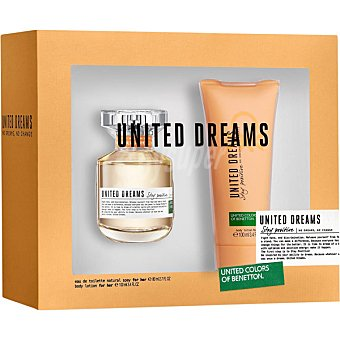 United Colors of Benetton Stay Positive eau de toilette natural femenina + body lotion tubo 100 ml Spray de 80 ml