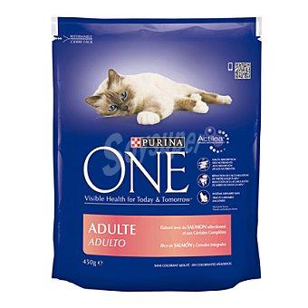 Purina One Comida para gatos con Salmón 450 gr