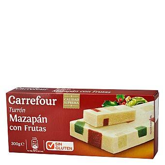 Carrefour Turrón mazapán con frutas sin gluten 300 g
