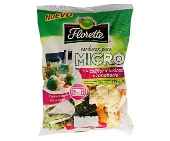 Florette Verduras para micro con coliflor, brócoli y zanahoria Bolsa 275 g