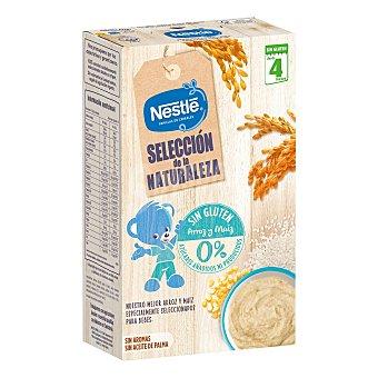 Nestlé Papilla infantil desde 4 meses de cereales con arroz y maíz sin azúcares añadidos sin gluten 330 g