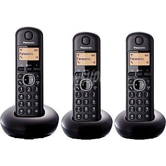 PANASONIC KX-TGB213SPB Teléfono Inalámbrico trío en color negro