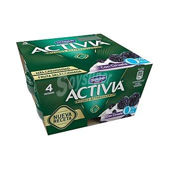 Activia Danone Activia 0% con ciruela 4 unidades de 125 g