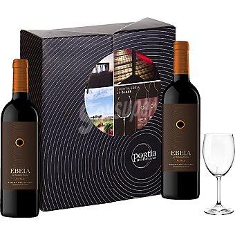 Ebeia Vino tinto roble D.O. Ribera del Duero estuche 2 botellas 75 cl + una copa de regalo Estuche 2 botellas 75 cl