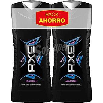 Axe gel de baño Marine Pack 2 frasco 400 ml