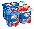 Yogur fresa sin gluten Pack 4 x 125 g Clesa