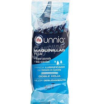 IFA UNNIA Maquinilla afeitar 2 hojas fijas 10 unidades