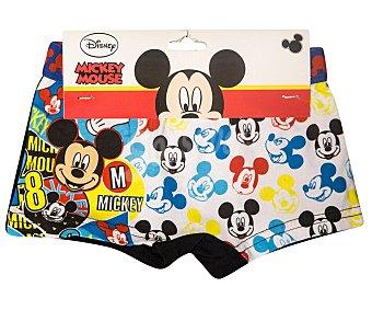 Disney Pack de 2 bóxers para niño mickey mouse, talla 8/10